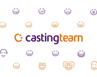 CastingTeam logo & icons / emoticons design