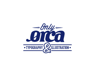 Only Orca - Typography & Illustration
