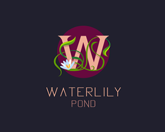 Waterlily Pond logo sketch