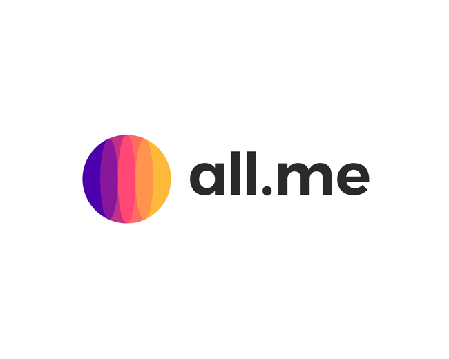 all Me, social network logo design