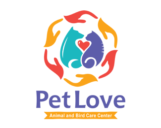Pet Love Animal Bird Care Center Logos for Sale