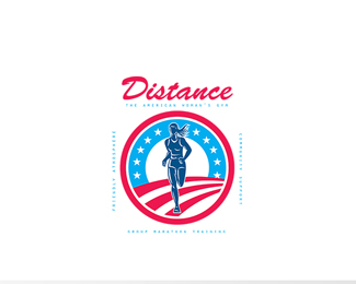 Distance Woman's Gym Logo