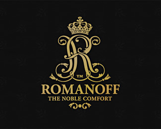 Luxury brand logo. Romanoff - mattress&bedding