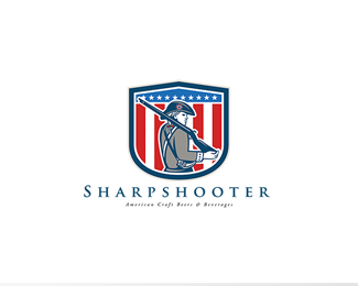 Sharpshooter American Craft Beer Logo
