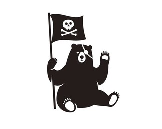 Pirate grizzly bear