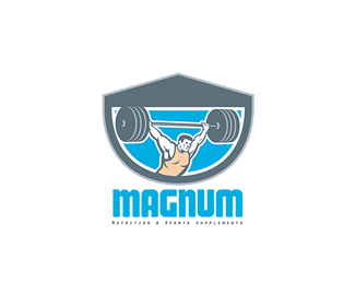 Magnum Nutrition and Sports Supplement Logo