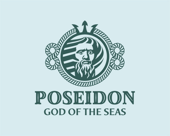 Poseidon The God Of The Seas Logo
