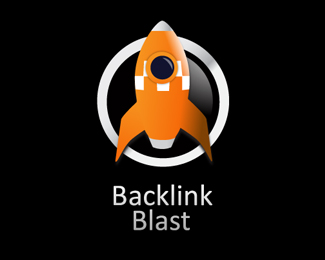 Back Link Blast Logo Design