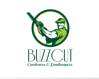 Buzz Cut Gardeners and Landscapers Logo