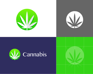 Cannabis logo icon