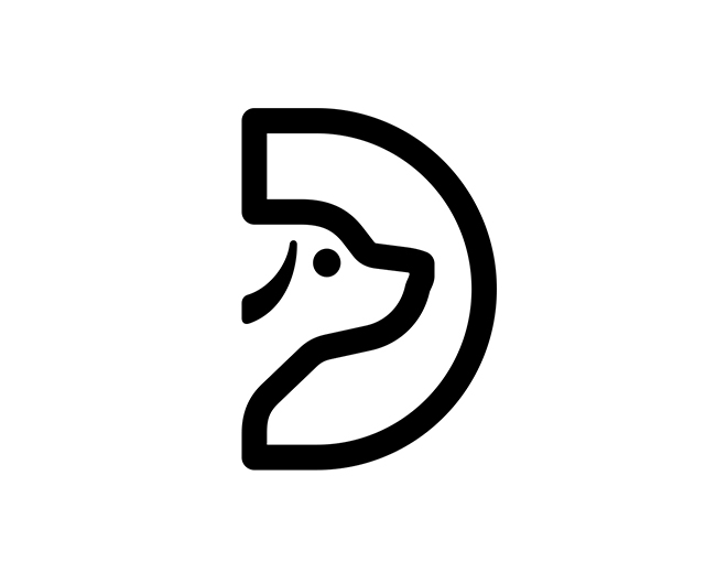Letter D Dog 📌 Logo for Sale