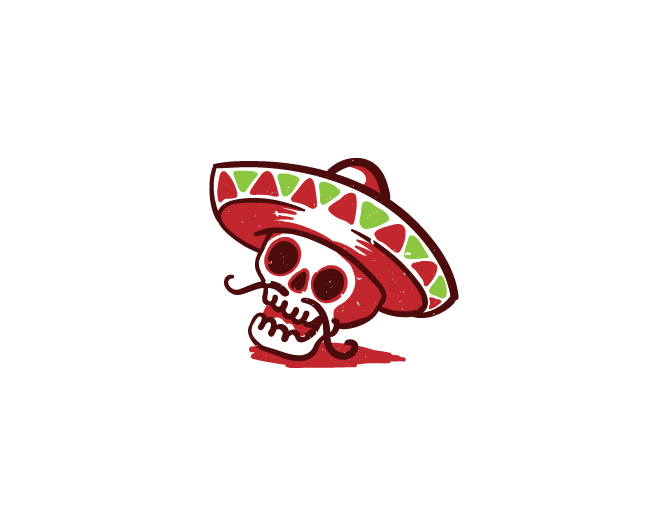 Grunge Mexican Skull