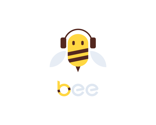 Music Bee logo design
