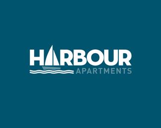 Logopond logo brand identity inspiration harbour for Apartment logo inspiration