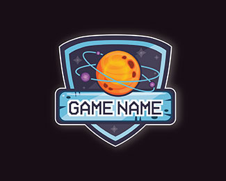 Game design logo with space