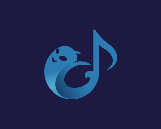 Ghost Music Note Logo
