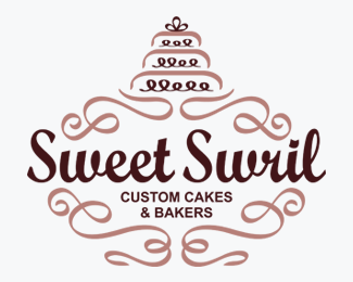 Sweet Swril Cakes and Bakers Logo for Sale