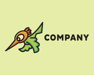 Hummingbird Mascot Cartoon Logo Design