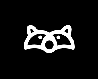 Raccoon Icon BW.