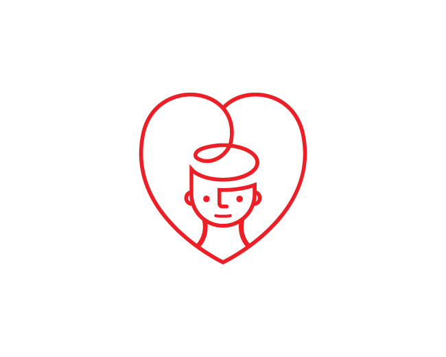 Rose Heart Girl Logo