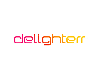 Delighterr word mark / logotype / logo design