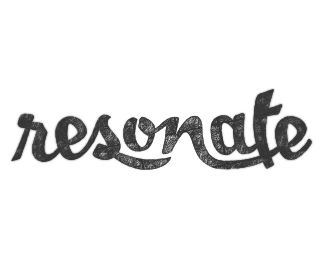 Resonate lettering