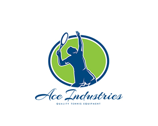 Ace Industries Tennis Equipments Logo