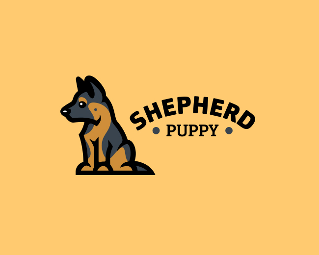 Shepherd puppy logo