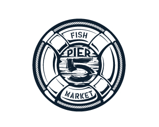Pier 5 Fish Market - 1-color