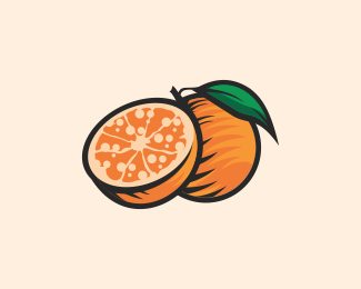 Fresh Orange Fruit Logomark