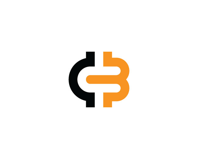 Cryptocurrency Letter B And C Logo