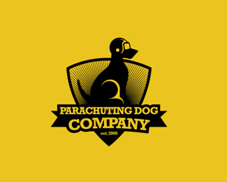 Parachuting Dog