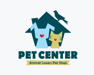 Pet Center Animal Lovers Pet Shop Logos for Sale