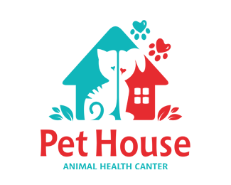 Pet House Animal Health Care Logos for Sale