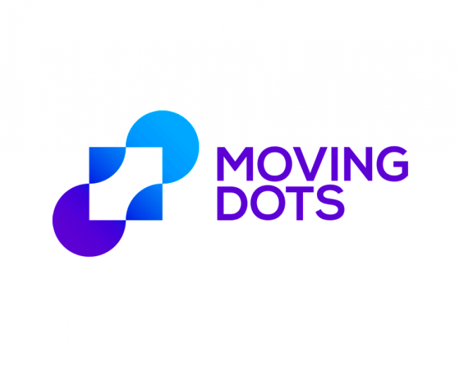 Moving Dots, modern financial logo design