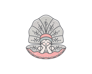 Baby In A Seashell Logo