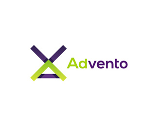 Advento in-game advertising logo design