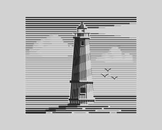 Lined Lighthouse