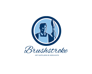 Brushstroke Art Suppliers and Merchants Logo