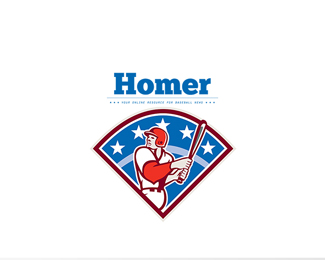 Homer Baseball News Logo