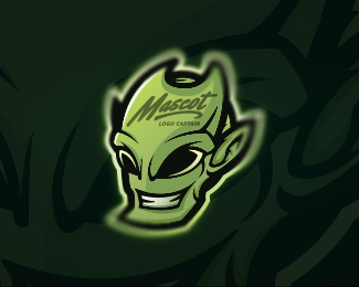 Wicked Alien Mascot Logo