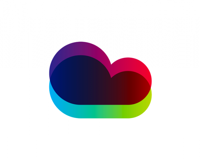 Colorful cloud for tech company logo design symbol
