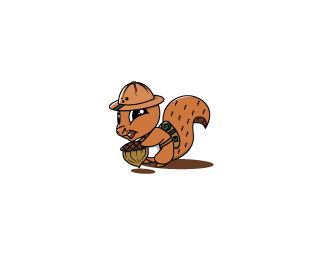 Squirrel Mascot