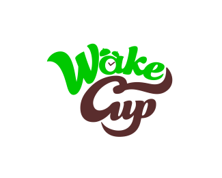 Logotype for coffee house Wake up
