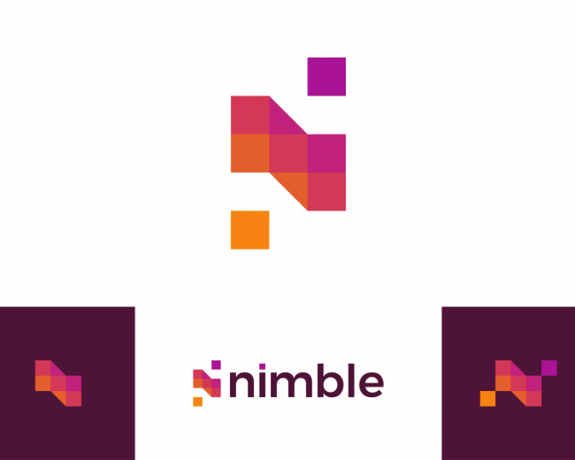N for nimble, apps developer logo design