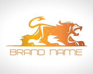 Modern Heraldic Lion Logo For Sale