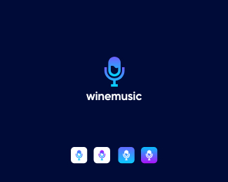 wine music logo icon