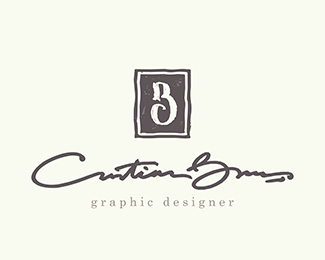 Beautiful Cristian Boros   Graphic Designer   Personal Logo