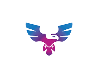 Minimalist Eagle Bird Logo