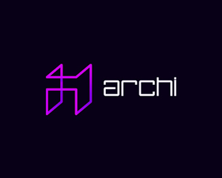 Archi architecture logo design